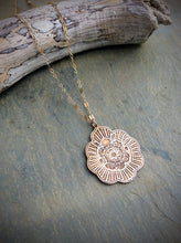 Mandala Burst Necklace Available in Sterling Silver and Bronze