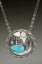 Sleeping Beauty Turquoise Moonlit Lake Necklace