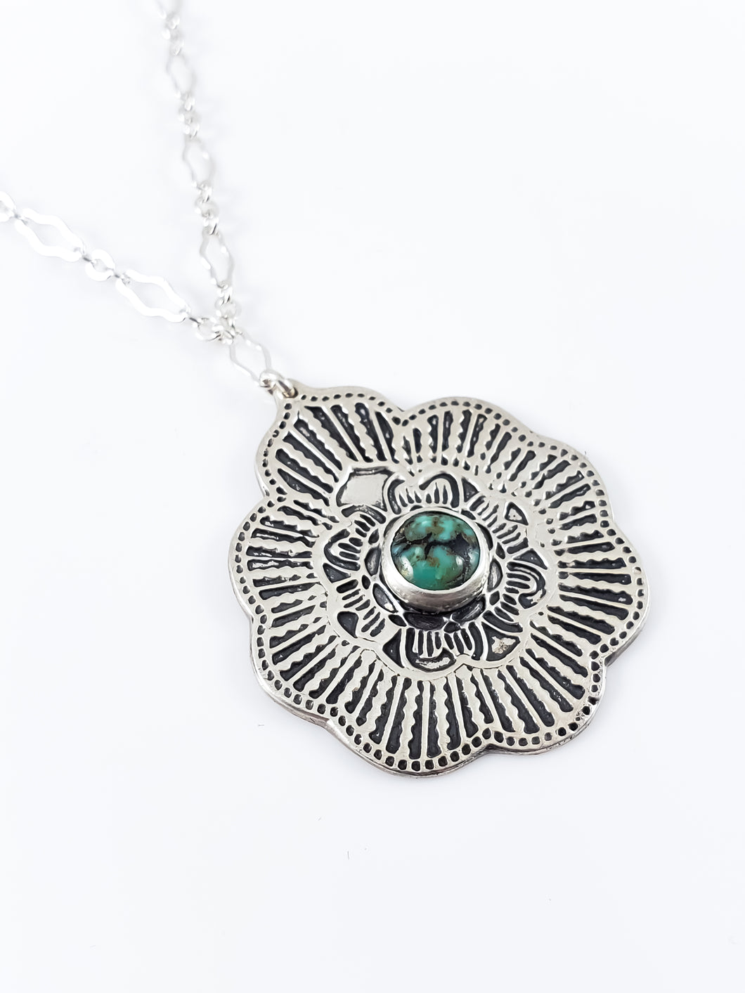 New Lander Turquoise Mandala Necklace