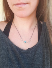 Rose Cut Opal Branch Bar Necklace