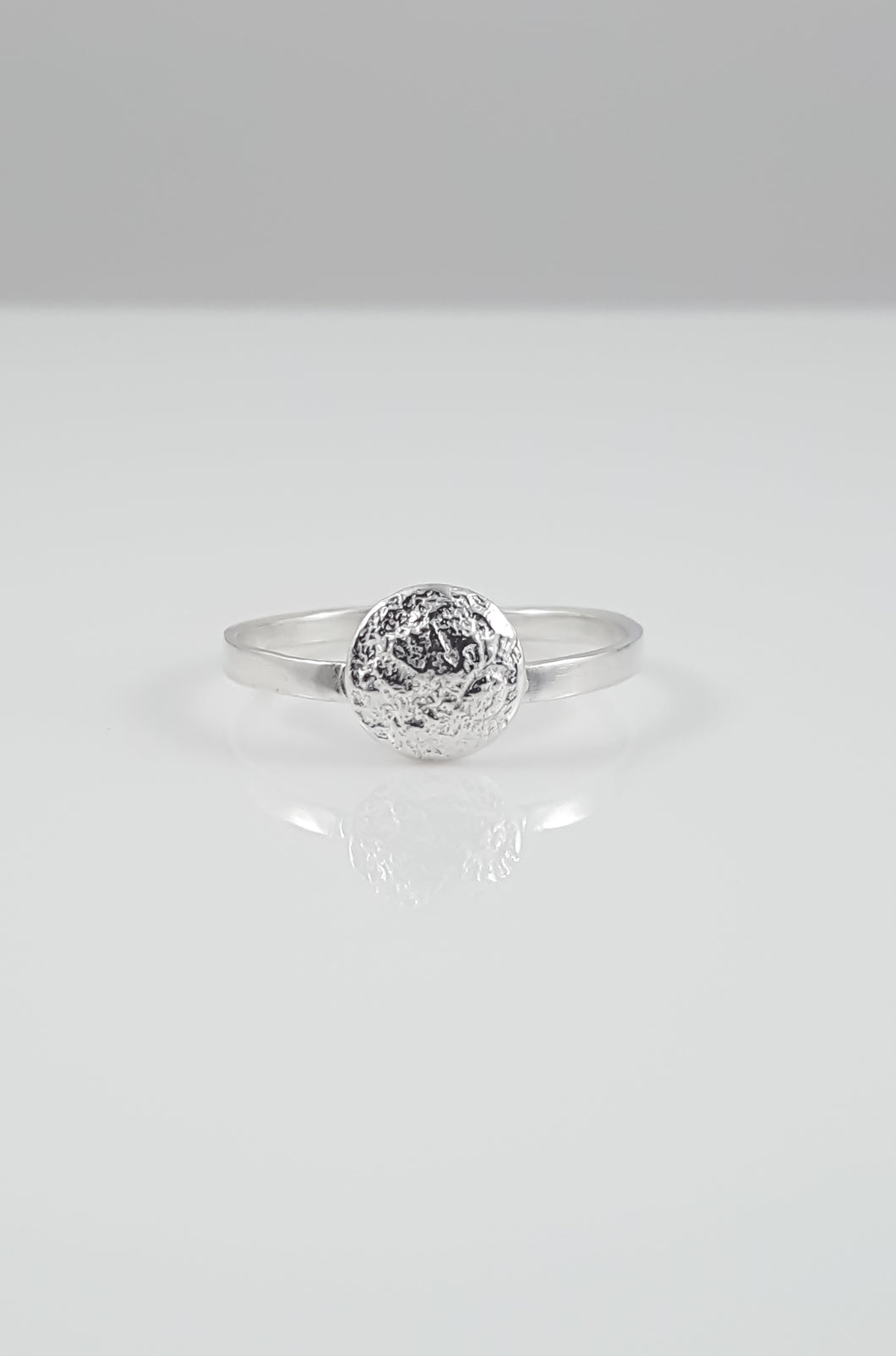 Custom Order Reserved for Holly // Sterling Silver Moon Ring