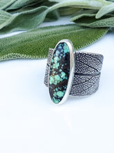 New Lander Turquoise Sage Leaf Saddle Ring