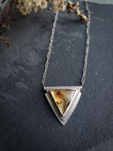 Triangle Montana Agate Necklace