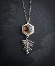 Montana Agate Evergreen Necklace