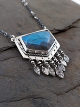 Rose Cut Labradorite Fringe Necklace