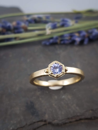 Tanzanite Hexagon Ring
