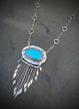 Sleeping Beauty Turquoise Fringe Necklace