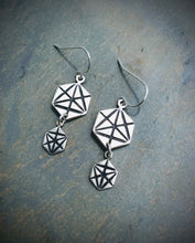 Double Merkaba Drop Earrings    Available in Sterling Silver or Bronze & 14K Gold Filled