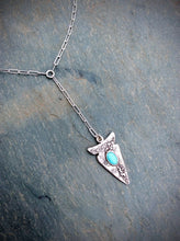 Turquoise Arrowhead Lariat Necklace