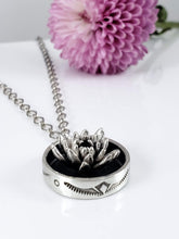Large Stamped Pot Succulent Necklace