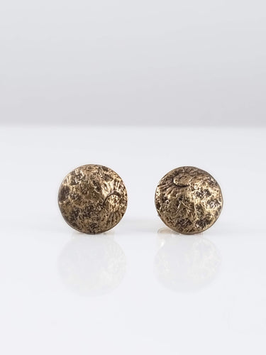 Moon Child Stud Earrings - Silver or Bronze