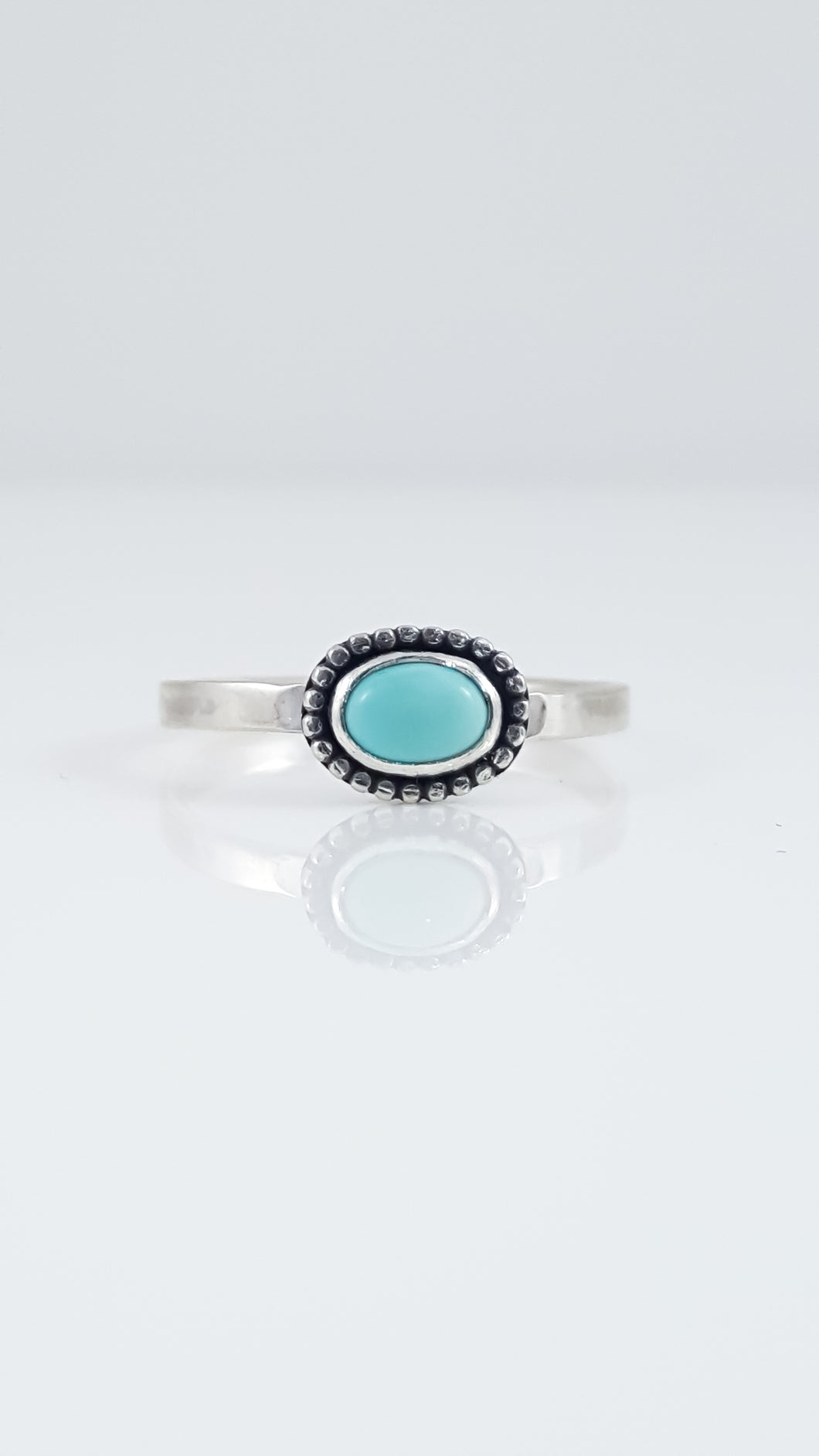 Dainty Sleeping Beauty Turquoise Ring