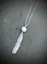 Disco Biscuits Feather Necklace