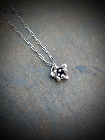 Silver Succulent Cluster Necklace