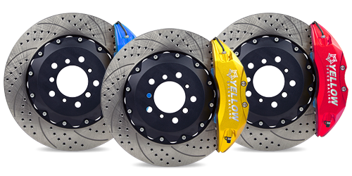 Audi YSR Big Brake Kit -Front 345mm X 32MM DISC 6 POT (YSCPF6B) for $1850.00 at Yellow Speed Racing, USA