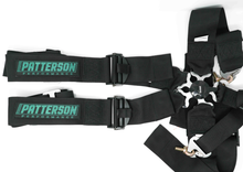 Patterson Performance 5 Point Cam Lock Racing Harness - Black w/ Teal