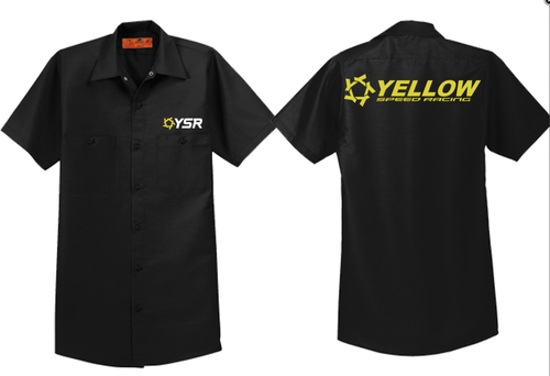 YSR Industrial Button Up Pit Crew Shirt for $44.99 at Yellow Speed Racing, USA