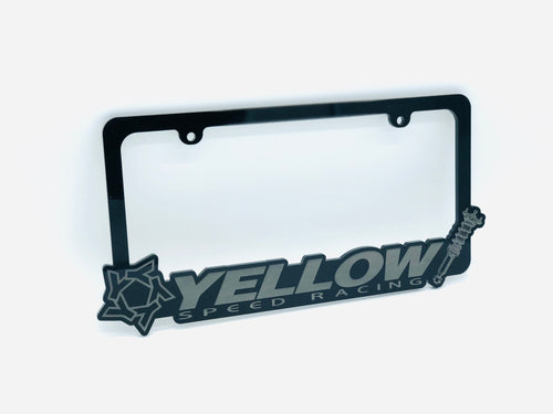 Yellow Speed Racing Acrylic License Plate Frame for $22.99 at Yellow Speed Racing, USA