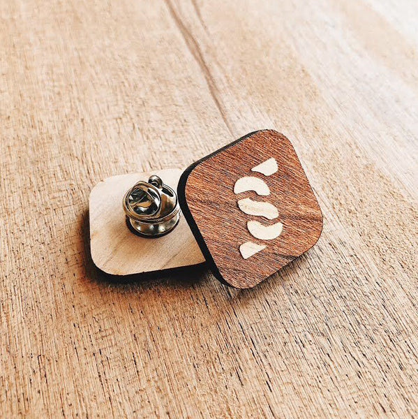 Wood Lapel Pin