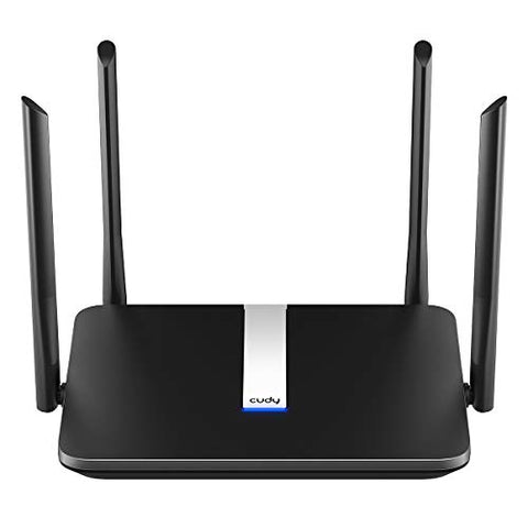 Cudy AC 2100Mbps Smart WiFi Router, Dual Band Gigabit Wireless Internet Router for Home and Gaming, 4x4 MU-MIMO, AP Mode, 4 High gain Antenna for Best Coverage, VPN, IPv6, QoS, OpenVPN, Model WR2100