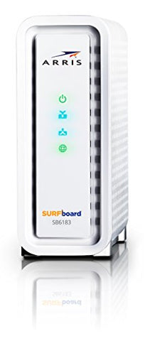 ARRIS Surfboard SB6183-RB 16x4 DOCSIS 3.0 Cable Modem, -White