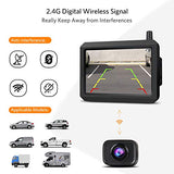 720P HD Wireless Backup Camera, Support 2 Cameras with Digital Wireless Signal, Waterproof Rear View Camera, 5″ TFT-LCD HD Monitor Ideal for SUV/Van/Trucks/Mini RV/Pickup (BOSCAM K7 Pro)
