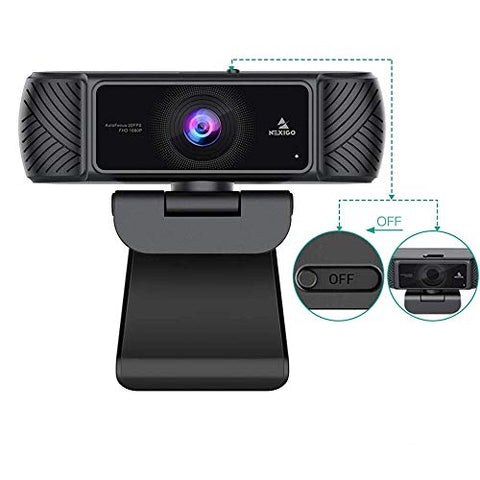 2021 AutoFocus 1080P Webcam with Microphone and Privacy Cover, NexiGo Business Streaming USB Web Camera, Plug and Play, for Online Class, Zoom Meeting Skype Facetime Teams, PC Mac Laptop Desktop