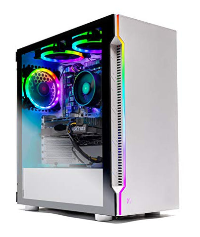 Skytech Archangel Gaming Computer PC Desktop – Ryzen 5 3600 3.6GHz, GTX 1660 6G, 500GB SSD, 8GB DDR4 3000MHz, RGB Fans, Windows 10 Home 64-bit, 802.11AC Wi-Fi