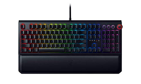 Razer BlackWidow Elite Mechanical Gaming Keyboard: Yellow Mechanical Switches - Linear & Silent - Chroma RGB Lighting - Magnetic Wrist Rest - Dedicated Media Keys & Dial - USB Passthrough