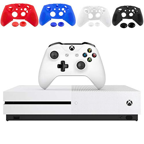 Microsoft Xbox One S 1TB Console - White - with 1 Xbox Wireless Controller - 4K Ultra Blu-ray and 4K Video Streaming - Family Home Christmas Holiday Gaming Bundle - iPuzzle 1 Pack Clear Silicone Cover