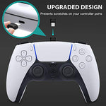 Newest PS5 DualSense Controller Charging Station, BEJOY Dual USB Type C PS5 Controller Charger with LED Indicator, Charging Dock for Playstation 5 / PS5/ Controller, White