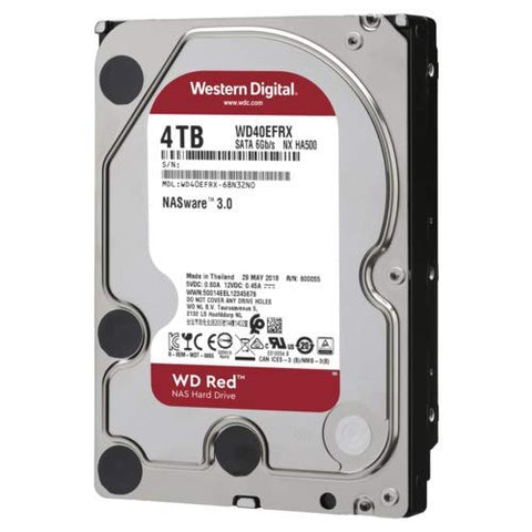 "Western Digital 4TB WD Red Plus NAS Internal Hard Drive - 5400 RPM Class, SATA 6 Gb/s, CMR, 64 MB Cache, 3.5"" - WD40EFRX"