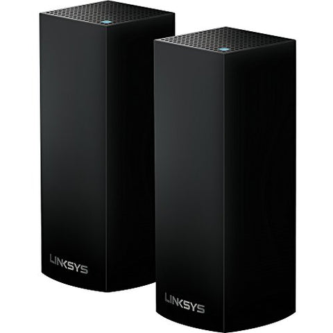 Linksys Velop Mesh Router (Tri-Band Home Mesh WiFi System for Whole-Home WiFi Mesh Network) 2-Pack, Black