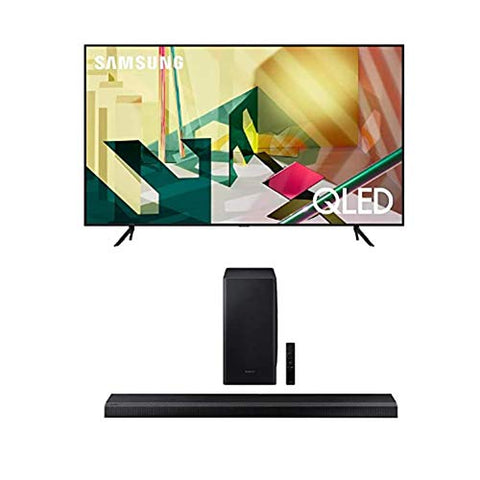 SAMSUNG 85-inch Class QLED Q70T Series - 4K UHD Dual LED Quantum HDR Smart TV with Alexa Built-in + HW-Q800T 3.1.2ch Soundbar with Dolby Atmos/DTS:X and Alexa Built-in (2020)