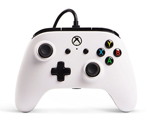 Enhanced Wired Controller for Xbox One - White, Gamepad, Wired Video Game Controller, Gaming Controller, Xbox One, works with Xbox Series X|S