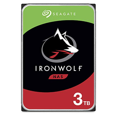 Seagate IronWolf 3TB NAS Internal Hard Drive HDD – CMR 3.5 Inch SATA 6Gb/s 5900 RPM 64MB Cache for RAID Network Attached Storage – Frustration Free Packaging (ST3000VN007) (ST3000VNZ07/VN007)