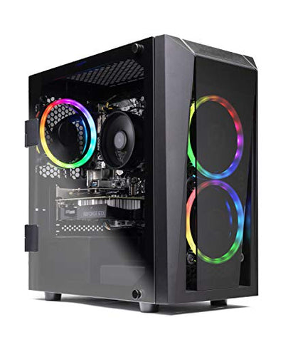 SkyTech Blaze II Gaming Computer PC Desktop – Ryzen 5 2600 6-Core 3.4 GHz, NVIDIA GeForce GTX 1660 6G, 500G SSD, 16GB DDR4, RGB, AC WiFi, Windows 10 Home 64-bit