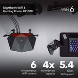 NETGEAR Nighthawk Pro Gaming 6-Stream WiFi 6 Router (XR1000) - AX5400 Wireless Speed (up to 5.4Gbps) | DumaOS 3.0 Optimizes Lag-Free Server Connections | 4 x 1G Ethernet and 1 x 3.0 USB Ports
