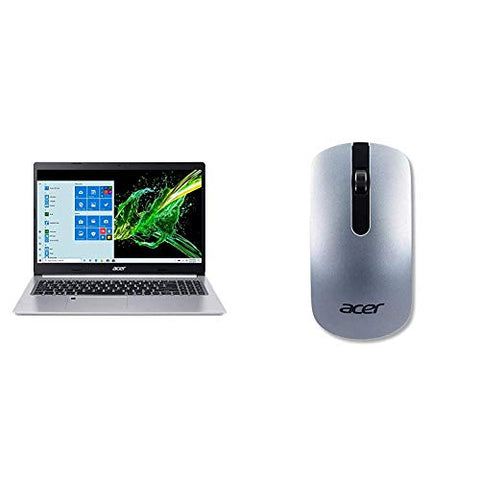 "Acer Aspire 5 A515-55-56VK, 15.6"" Full HD IPS Display, 10th Gen Intel Core i5-1035G1 with Acer Slim Wireless Optical Mouse - Silver"