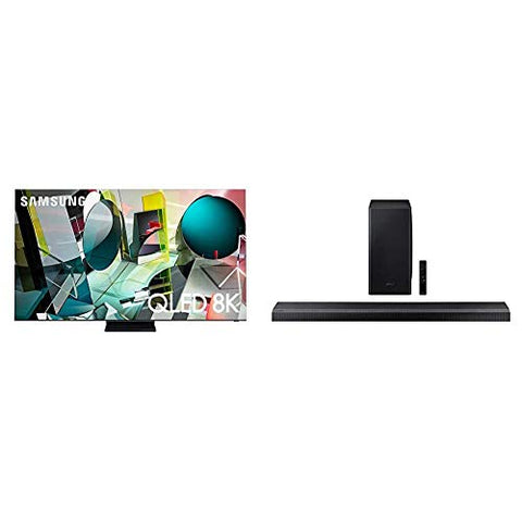 SAMSUNG 85-inch Class QLED Q950T Series - Real 8K Resolution Smart TV with Alexa Built-in (QN85Q950TSFXZA, 2020 Model) + HW-Q800T 3.1.2ch Soundbar with Dolby Atmos/DTS:X and Alexa Built-in (2020)