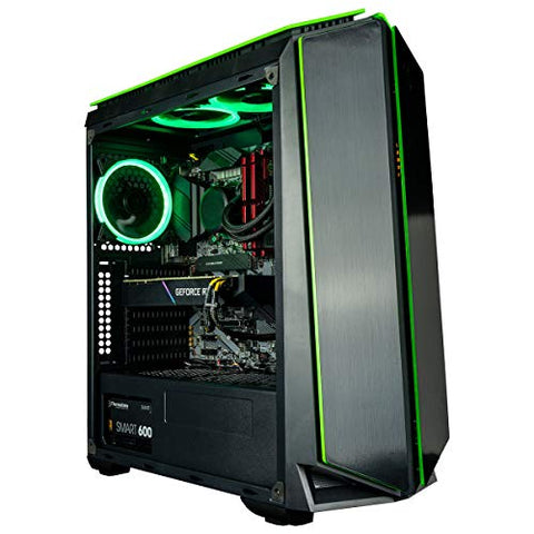 CUK Mantis Gamer PC (Liquid Cooled Intel Core i9 K-Series, 64GB RAM, 1TB NVMe SSD + 2TB HDD, NVIDIA GeForce RTX 3080 10GB, 850W PSU, AC WiFi, Windows 10 Home) Gaming Tower Desktop Computer