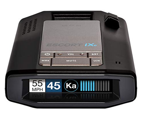 Escort IXC Laser Radar Detector - Extended Range, Wifi Connected Car Compatible, Auto Learn Protection, Voice Alerts, Multi Color Display, Model:0100039-1