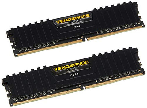 Corsair CMK8GX4M2A2400C14 Vengeance LPX 8GB (2x4GB) DDR4 DRAM 2400MHz (PC4-19200) C14 Memory Kit - Black