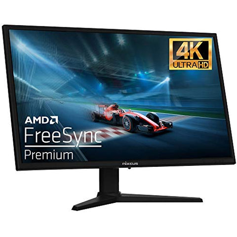 "Nixeus EDG 27"" IPS 3840 x 2160 AMD FreeSync Premium Certified 144Hz Ultra HD 4K Gaming Monitor, Black (NX-EDG274K)"