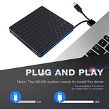 External DVD Drive, M WAY USB 3.0 Type C CD Drive, Dual Port DVD Player, Portable Optical Burner Writer Rewriter, High Speed Data Transfer for Laptop Notebook Desktop PC MAC OS Windows 7/8/10