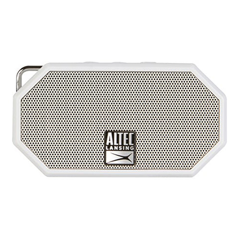 Altec Lansing Mini H2O - Wireless, Bluetooth, Waterproof Speaker, Floating, IP67, Portable Speaker, Microphone, 30 ft Range, Lightweight, 6-Hour Battery, Grey, 2.25 x 1.00 x 4.13 inches, IMW257-CG