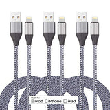 iPhone Charger Cable (3 Pack 10 Foot), [MFi Certified] 10 Feet Nylon Braided Lightning Cable, iPhone Charging Cord USB Cable Compatible with iPhone 11/Pro/X/Xs Max/XR/8 Plus /7 Plus/6/ iPad