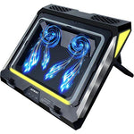 Gaming Laptop Cooling Pad, 4500RPM Strongest Laptop Cooler 17.3 inch, Laptop Cooling Stand with Faster Heat Dissipation, Colorful Lights, Adjustable Mount Stand, Laptop Temperature Drops by 20 Degrees