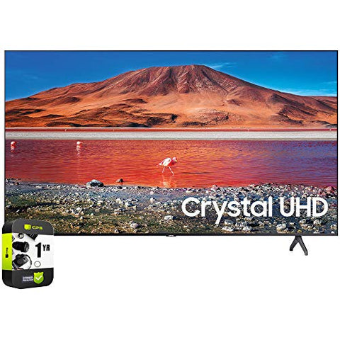 SAMSUNG UN43TU7000FXZA 43 inch 4K Ultra HD Smart LED TV 2020 Model Bundle with Support Extension