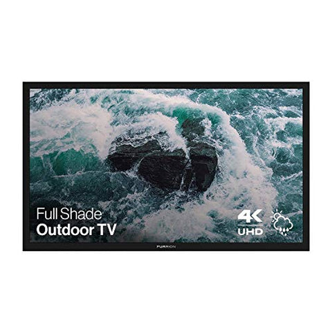 Furrion Aurora - Full Shade Series 65-Inch Weatherproof 4K Ultra-High Definition LED Outdoor Television with Auto-Brightness Control for Outdoor Entertainment - FDUF65CBR